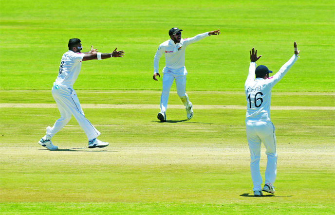 Lakmal guides Sri Lanka to 10-wicket win over Zimbabwe