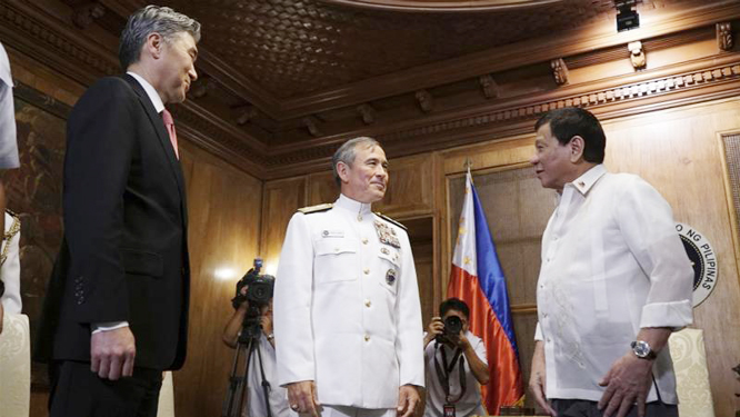 Philippines President Duterte threatens to end US military pact
