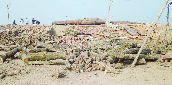 JHENAIDAH: An illegal brick field has been demolished  at Pirojpur area in  Kaliganj Upazila  on Saturday.