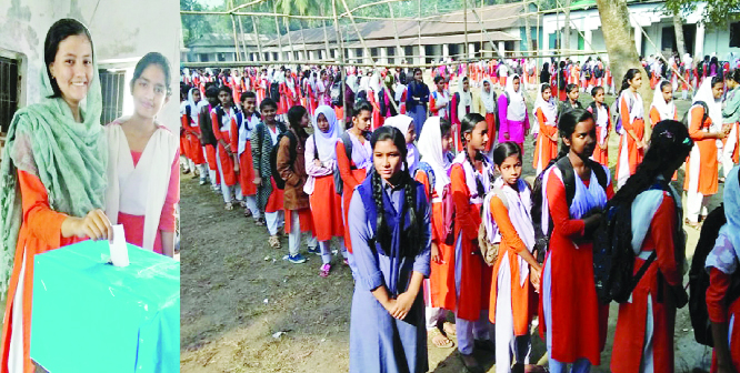 GOURIPUR (Mymensingh): The Students' Cabinet Election was held at Gouripur Pilot Girls' High School  on Saturday.