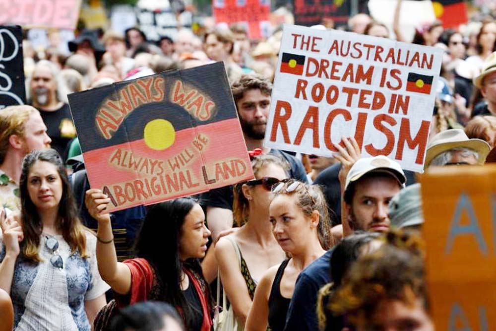 Thousands rally across Australia for 'Invasion Day' protests
