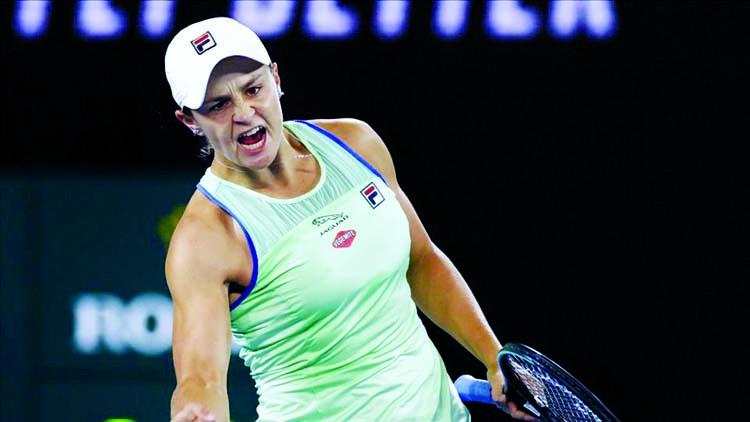 Top seed Barty battles into Australian Open quarter-finals