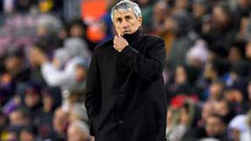 Barcelona coach Setien under fire after 3 games in charge