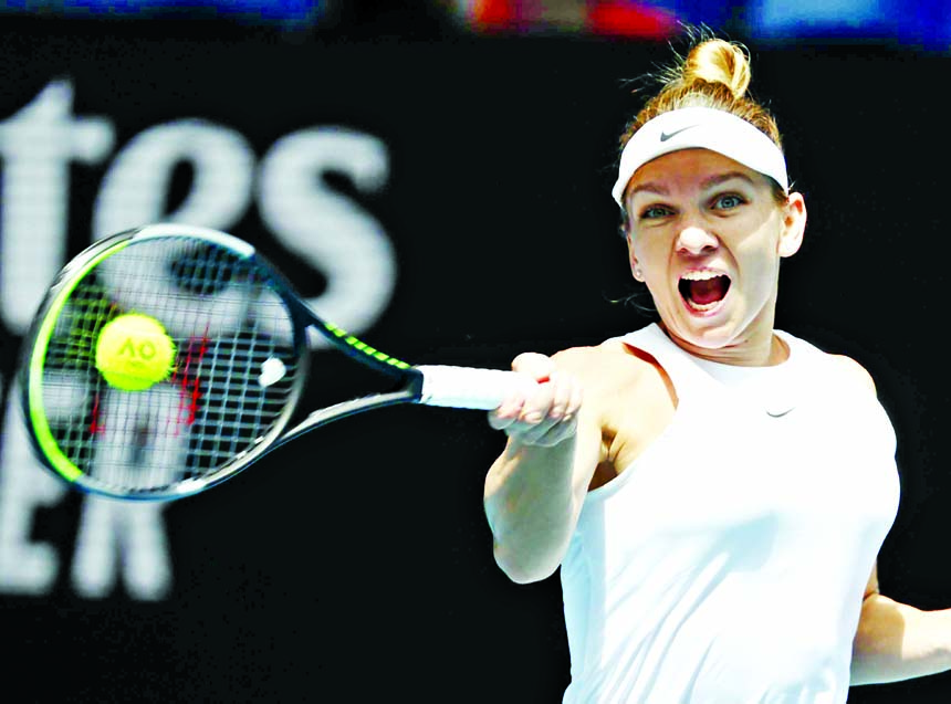 Ruthless Halep races into Australian Open quarter-finals