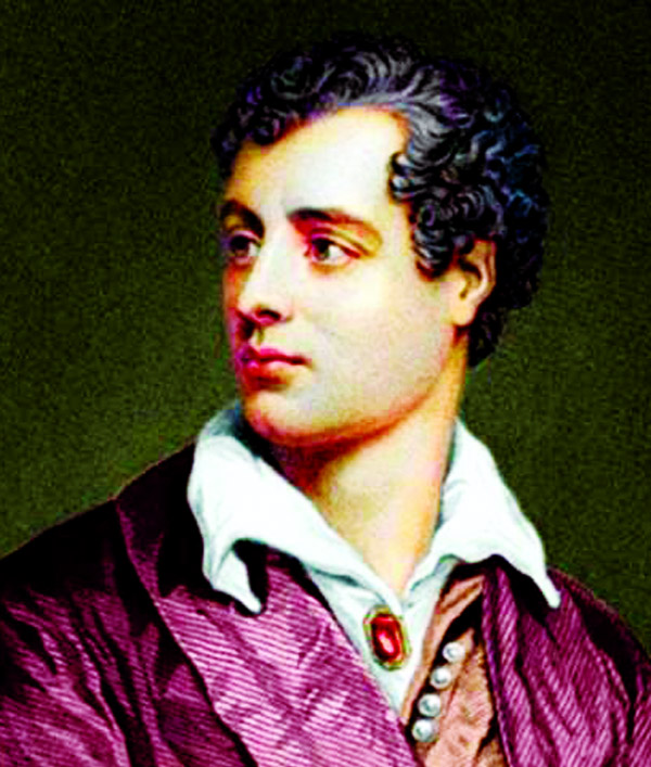 Poet, playwright Lord Byron