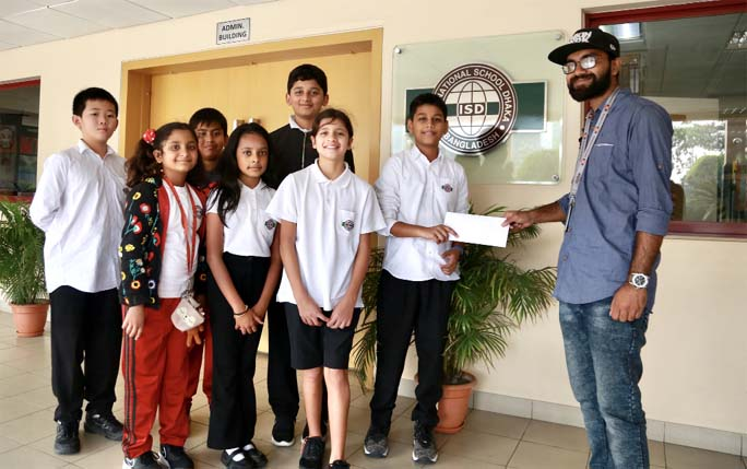 Primary students of ISD raise fund for endangered animals