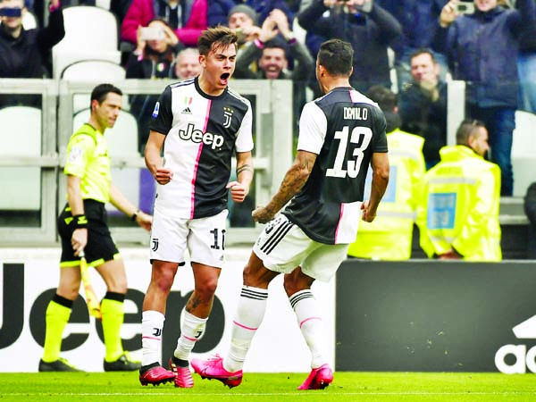 Dybala, Cuadrado fire Juventus top against 10-man Brescia