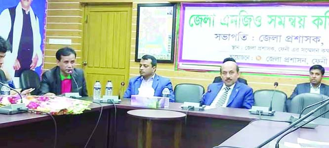FENI:  A farewell was accorded to PK M Enamul Karim, Deputy Director, Local Government Division at  DC's Conference Room  jointly organised by Bangladesh Mofussil Sangbadik Forum (BMSF), Bangladesh  Manobadhikar  Sammilon(BAMAS) and NGO Federation yesterday. Md Wahiduzzaman, DC, Feni   was present as Chief Guest.