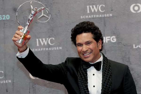 Sachin Tendulkar wins Laureus Sporting Moment Award for 2011 World Cup triumph