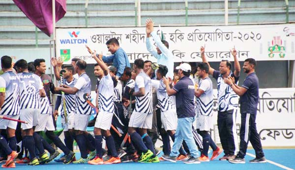 Navy champions in Bangabandhu Shaheed Smrity Hockey Tournament