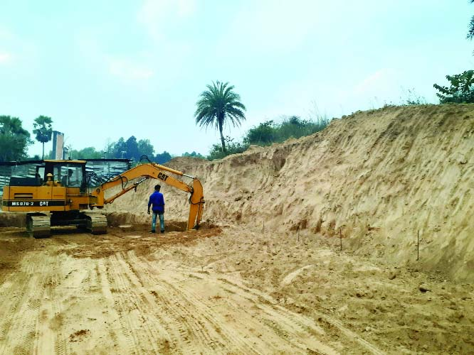 Illegal hill cutting to build teachers' club   at CoU