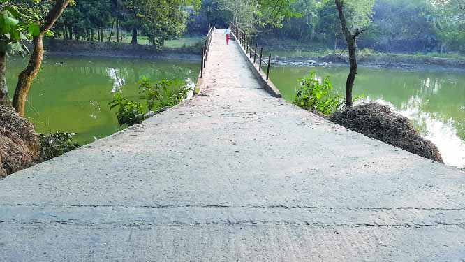 BHANGURA (Pabna): Despite having connection with paved road of  north side of the foot bridge of  LGED behind  Naubaria village  in the Upazila, the public road has been closed  due to occupation of the south side connecting road.