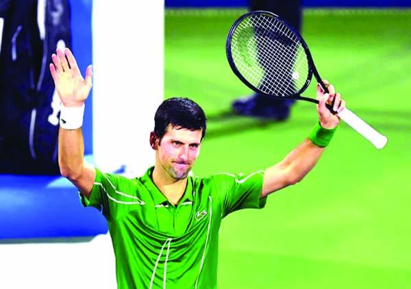 Djokovic sizzles into Dubai second round
