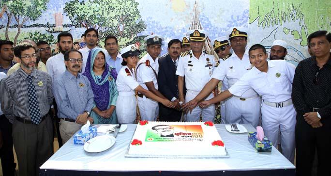 Marin Fisheries Academy, Chattoagram celebrating Bangabandhu's birth centenary on Tuesday.