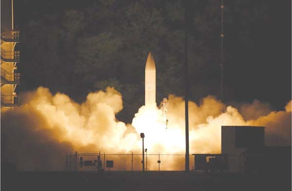 Pentagon successfully tests unarmed hypersonic missile