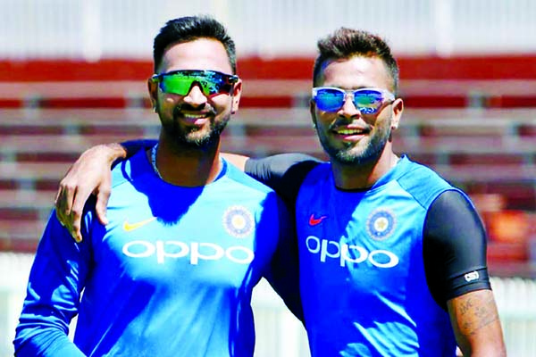 Covid-19: Pandya brothers turn home into stadium