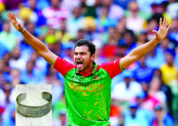 Mashrafe not parting away from his bracelet