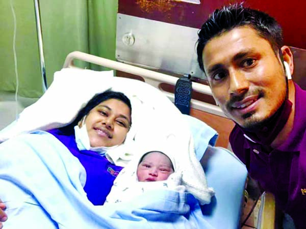 Ashraful becomes father of a baby boy