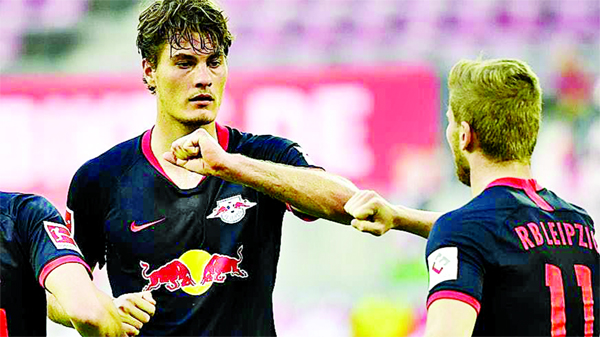 Leipzig 'back on course' for Champions League with Cologne win