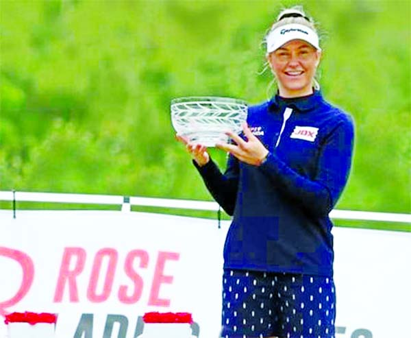 Charley Hull wins first Rose Ladies Series tournament