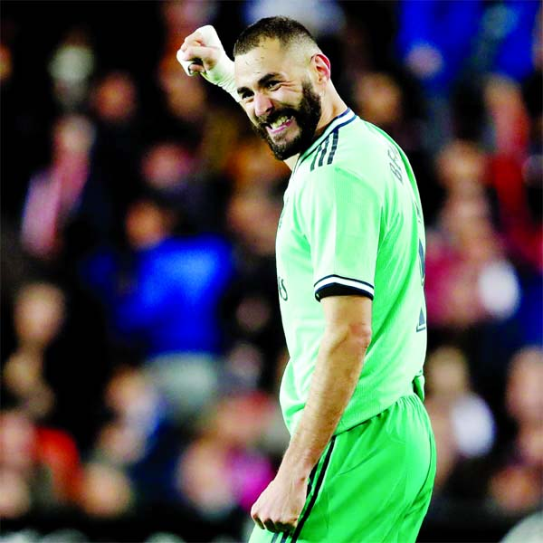 Clever Benzema assist helps Real Madrid go clear at the top