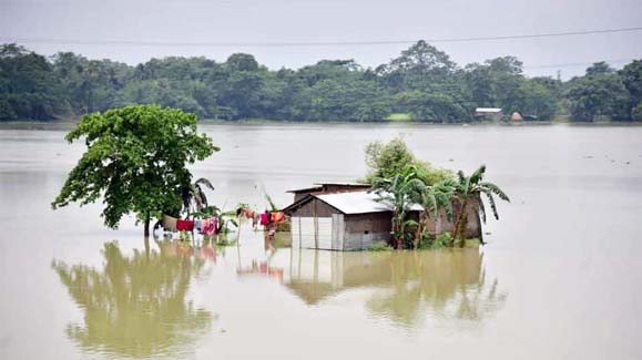 Floods in Assam force a million flee from their homes