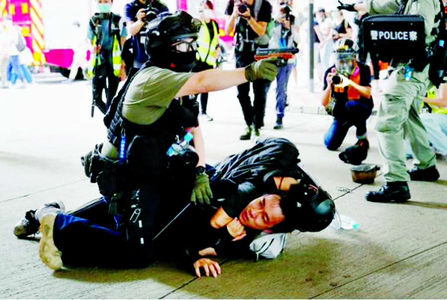 Violent protest against new security law in HK Nearly 200 arrested