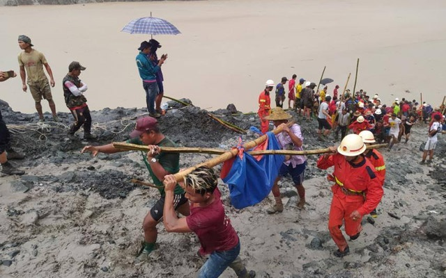 113 killed as Myanmar jade mine collapse buries workers
