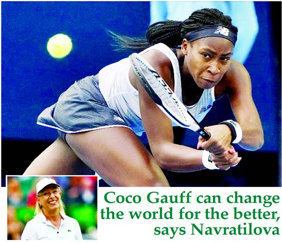 Coco Gauff can change the world for the better, says Navratilova