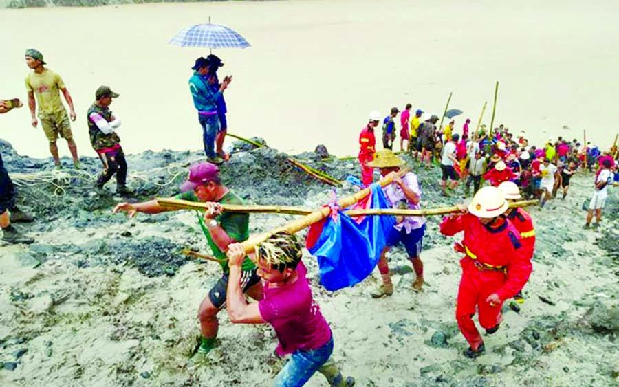 Myanmar jade mine landslide kills 146