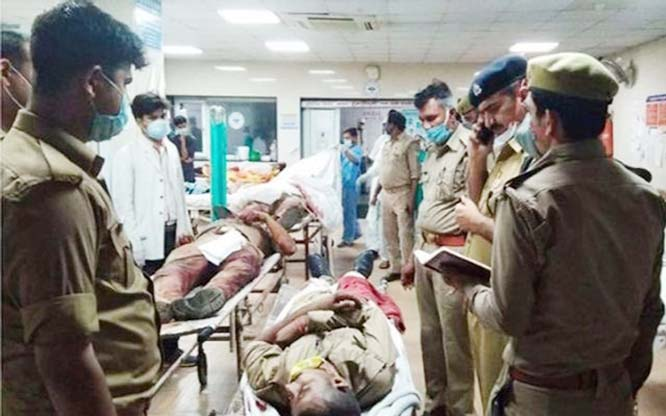8 policemen out to nab dreaded criminal killed in firing in UP's Kanpur
