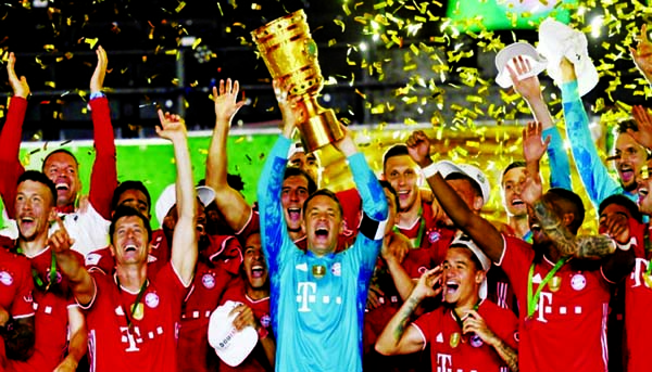 Bayern win 20th German Cup to complete double