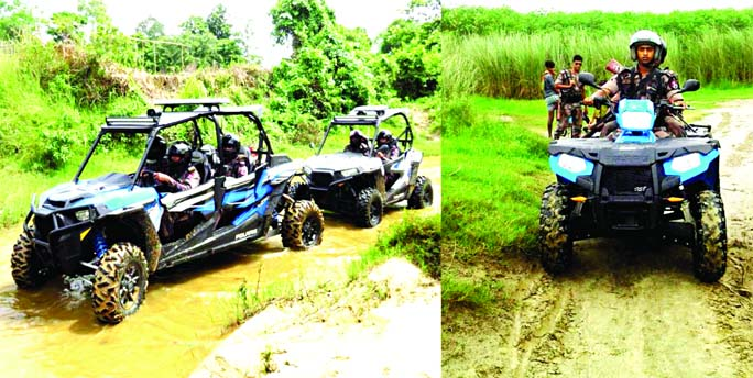 BGB gets All Terrain Vehicles for patrolling in the border areas with a view to resisting smuggling and human trafficking. The snap was taken on Thursday.