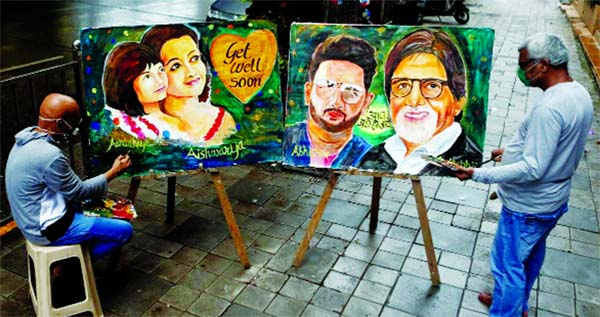 Fans in India pray for Bollywood's Bachchans to recover from Corona