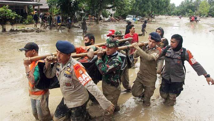 Flash floods, landslides kill 16 in Indonesia, 23 still missing