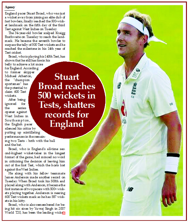 Stuart Broad reaches 500 wickets in Tests, shatters records for England