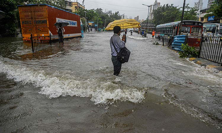 Heavy rain batters Mumbai disrupting rail and road traffic