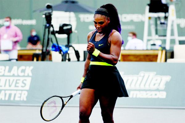 No fans, no problem as 'calm' Serena wins on return