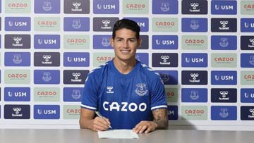 Everton sign Colombia's Rodriguez from Real Madrid