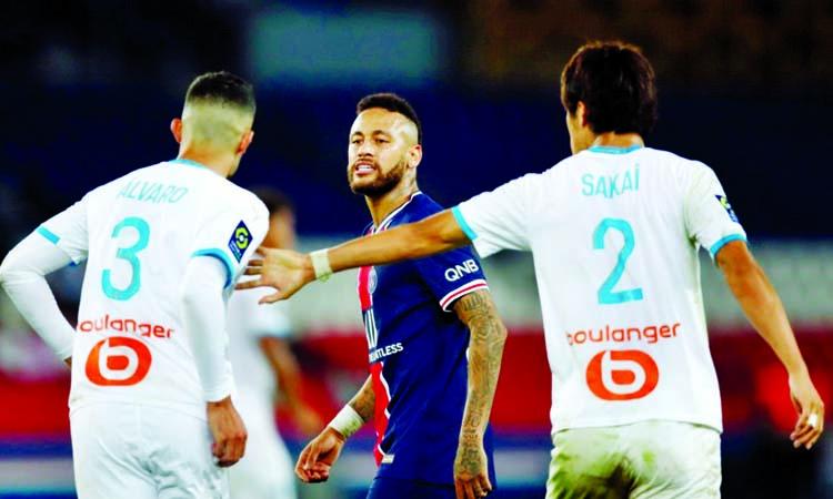 Neymar among five sent off as Marseille end long PSG curse