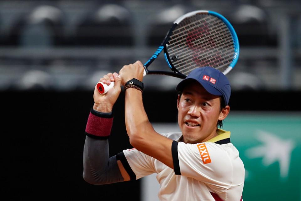 Nishikori reaches second round at Italian Open