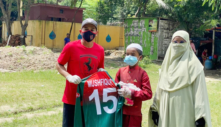 11-year-old boy`s dream comes true after meeting hero Mushfiqur Rahim