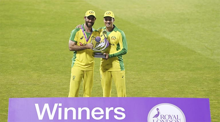 Maxwell and Carey hit hundreds as Australia win over England in ODI series