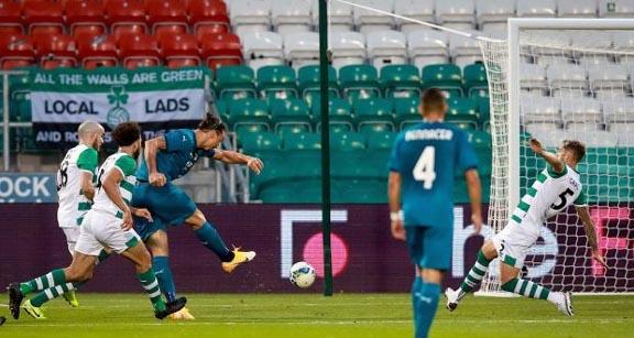 AC Milan beat Shamrock Rovers