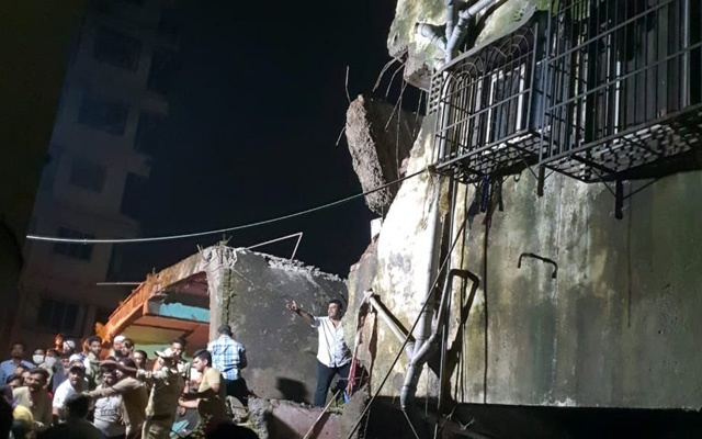 At least 10 dead in Mumbai building collapse, several feared trapped