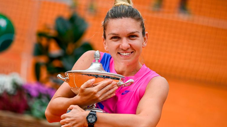 Halep claims Rome title after Pliskova retires due to injury