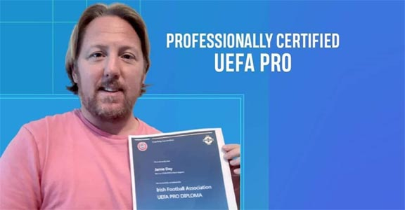 Jamie Day receives Pro License Diploma certificate