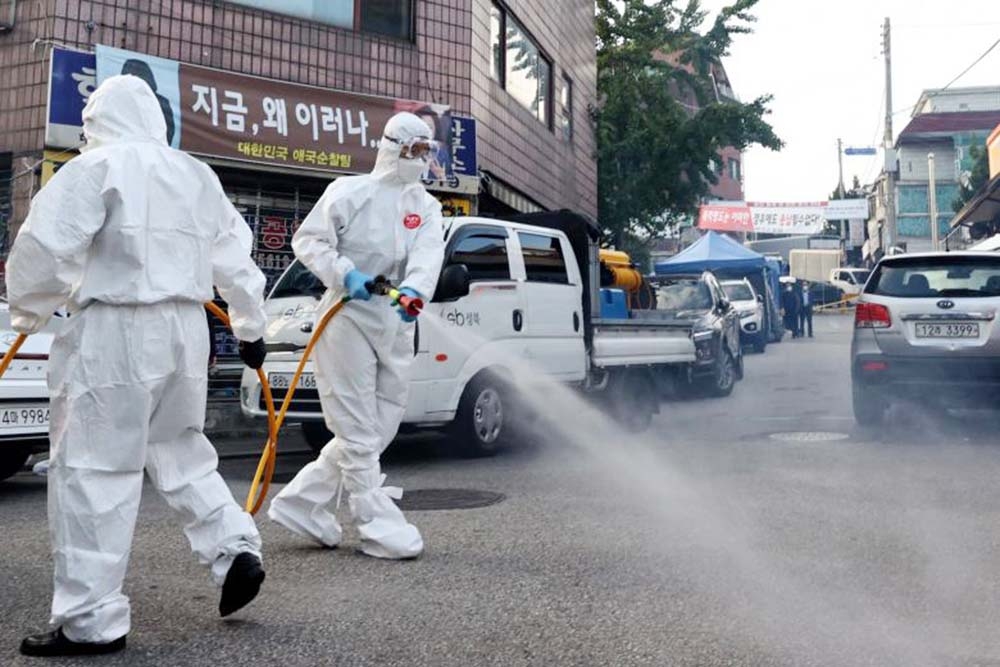 South Korea's domestic coronavirus cases fall to lowest in 44 days