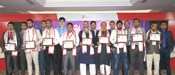 Dealers' Conference of `Regal Furniture' (a concern of RFL Group), held at The Palace Luxury Resort in Habiganj recently. Top ten dealers were awarded in the conference. Ahsan Khan Chowdhury, Chairman and Chief Executive Officer of PRAN-RFL Group, RN Paul, Managing Director of RFL Group, Shafiul Alam Khan, in-charge, Mohammad Jabedul Islam, Head of Sales and Debashish Sarker, Head of Marketing of Regal Furniture, among others, were also present.
