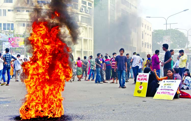 Protest at Shahbagh again